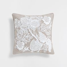 Natural colour raised embroidery linen cushion cover - Cushions - BEDROOM | Zara Home United States of America