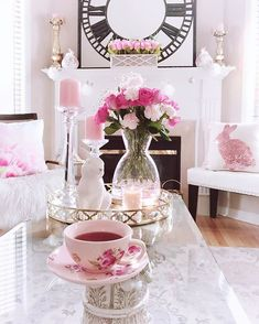 .#FamilyRoom #EleganceRoom #LifeStyleGuide #Blushpink #CottagesAndBungalows #Carpets #Bouquets #TeaCups #TimeForTea #SpringDecor #EasterDecor #thatsgoodhousekeeping #ShabbyChicStyle #beautifulhome #prettydecor #verytandc #HouseAndHome #inspire_me_home_decor #safavieh #interior4inspo #interior125 #FloralDesigner #TableScapes #fireplacedecor #PinkEverything #TableDecorations #TheDesignTwinsLoveSpring #SwoonWorthySaturday #FloralDesigns #coffeetabledecor Spring Is Here, Spring Home, Cottages And Bungalows, Inspire Me Home Decor, Dark Winter, Decorating Coffee Tables, Shabby Chic Style, Blush Pink, Beautiful Homes