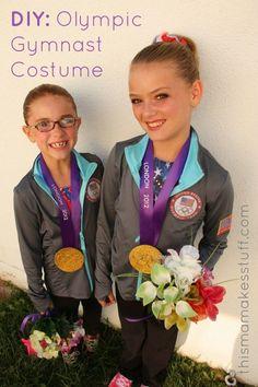 Olympic Gymnast Costume Tutorial {Halloween DIY}--Rory did this for Halloween 2012