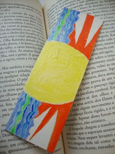 Sun Acrylic Art Recycled Bookmark   'The by ChanelledCreations, £4.50