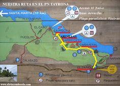 rutas de viaje parque tayrona - Buscar con Google