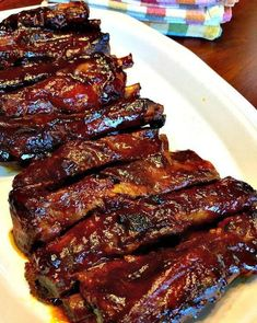 Easy Slow Cooker BBQ Ribs - These Easy Slow Cooker BBQ Ribs are tender, melt in. - Easy Slow Cooker BBQ Ribs – These Easy Slow Cooker BBQ Ribs are tender, melt in your mouth, fall - Slow Cooker Bbq Ribs, Slow Cooker Recipes, Crockpot Recipes, Pork Recipes, Bbq Beef, Crockpot Dishes, Smoker Recipes, Punch Recipes, Pasta Recipes