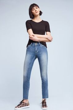 Slide View: 1: Pilcro Stet Mid-Rise Skinny Jeans