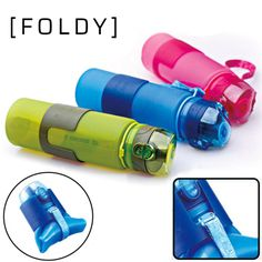 MAIBU Collapsible Sports Water Bottle Foldable Leak Proof Silicone Bottle Twist Cap With BrushBPA Free Blue * Check this awesome product by going to the link at the image. (This is an affiliate link) Cheap Water Bottles, Plastic Bottles, Foldable Water Bottle, Protein Shaker Bottle, Sports Drink, Bottle Bag, Fruit Drinks, Digital Nomad, Drinkware