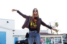 LOS ANGELES, December 2014 I was wearing: SAINT LAURENT GLITTER SHOES REDUN JEANS DAVID BOWIE...