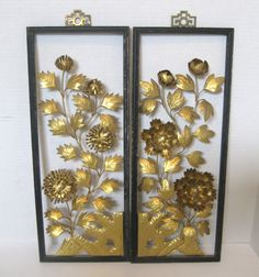 Hey, I found this really awesome Etsy listing at https://www.etsy.com/listing/500175590/mid-century-retro-framed-metal-floral