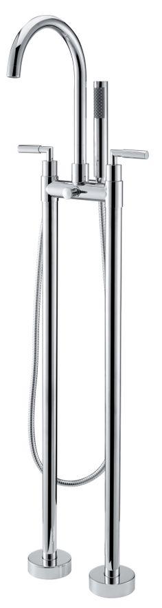 """Auf zwei Säulen ruht diese klassisch anmutende Standarmatur """"Lago di Como"""" Die zwei Chromhebel für Warm- und Kaltwasser auf jeder Seite unterstreichen die klassische Note dieser Standarmatur. Ein besonders klassisches und nostalgisch anmutendes Designobjekt für Ihr Badezimmer.  http://www.baedermax.de/standarmaturen/lago-di-como-1.html"""