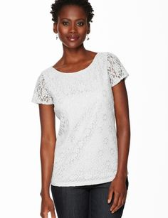 The Limited - Lace Tee in Grey: $39.90