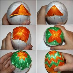 10 DIY Easter craft ideas using styrofoam eggs - for adults Quilted Ornaments, Fabric Ornaments, Diy And Crafts Sewing, Crafts To Sell, Crafts For Teens, Crafts For Kids, Craft Tutorials, Craft Projects, Christmas Balls