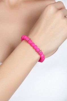 MeYa Happy Things Neon Pembe Bileklik Lidyana