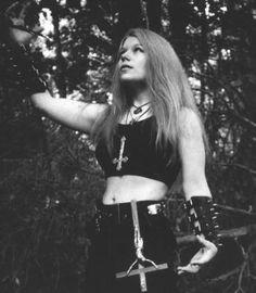 Satania (Dana Duffey), vocalist for black metal band Demonic Christ