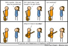 Funny pictures about What guitarists think. Oh, and cool pics about What guitarists think. Also, What guitarists think photos. Cyanide And Happiness Comics, Funny Images, Funny Pictures, Best Guitar Players, Funny Comic Strips, Music Humor, Funny Music, Thats The Way, Playing Guitar