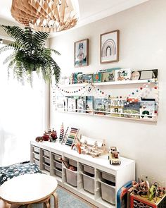 35 Favorite Playroom Design Ideas Must Have For Tiny Spaces - Having a kids playroom has many benefits. To begin with, you'll have a charming and pleasant environment where your little one may spend most of the t. Bedroom Storage Ideas For Clothes, Bedroom Storage For Small Rooms, Playroom Design, Playroom Decor, Playroom Table, Playroom Quotes, Girl Room, Girls Bedroom, Diy Bedroom