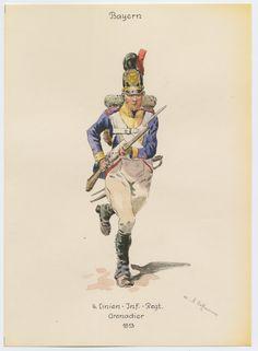 SOLDIERS- Hoffmann: NAP- Prussia: 4. PRUSSIAN LINE INFANTRY REGIMENT GRENADIER 1813, by Anton Hoffmann.