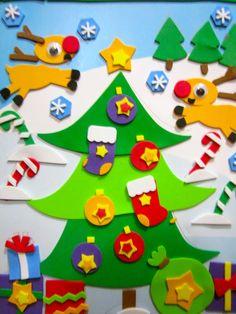 'O Christmas Tree' - 2015. Foam art.