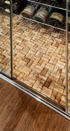 You could probably make this with all of your wine corks for Wine cellar paint colors
