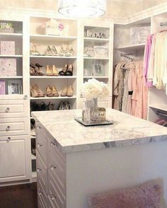 I'd have to purge a lot of shoes and clothes, but probably worth it.  This closet is so cute!