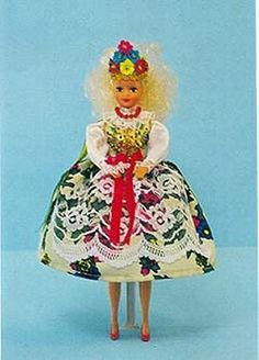 Krakowianka Wedding Barbie Style Doll. The Krakow costume for a Polish Wedding! This beautiful vest is hand beaded.