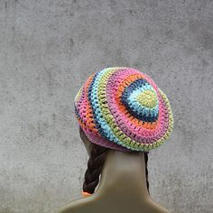 Size S - 21 inches. Hipster Fashion, Boho Fashion, Boho Hat, Cotton Hat, Slouchy Beanie, Hat Sizes, Hippie Style, Crochet Hats, Trending Outfits