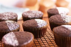 chocolate cupcakes, Vegan_Chocolate_Cupcakes_058771, cupcake, dessert, cupcakes, food, chocolate
