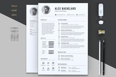 Alex Resume by Estartshop on @creativemarket