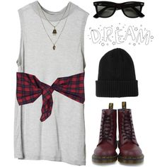 Flannel Shirt, Oversized Tee, Hat, Boots. Annnnnnd black leggings!