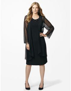 Black Diamond Jacket Dress   Catherines