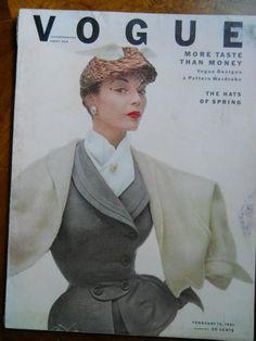 Authentic Feb 15 1951 Vintage Vogue Fashion by FabulousVintageHats