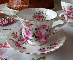 Royal Albert cup and saucer with roses