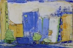 """Inge Philippin  - """"Summer in the City 3""""  - acrylic on canvas"""