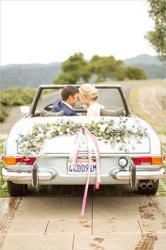 Autoschmuck, Hochzeit, Deko, Hochzeitsauto