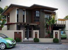 2 storey house design, house exterior design, house outside des Minimalist House Design, Minimalist Home, Modern House Design, Modern Zen House, Double Storey House, 2 Storey House Design, Philippine Houses, Design Exterior, Facade House