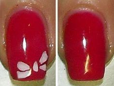 rosso con fiocco micropittura