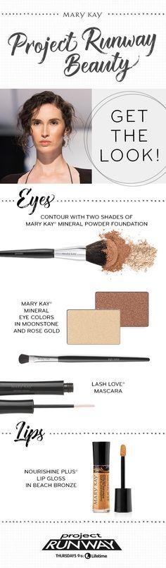 A beautifully bronze Project Runway makeup look!   Mary Kay