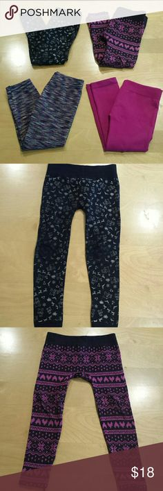 Fleece lined Warm and cozy for these cold days. Some pairs have wear on knees. Size 4 - 6. Bottoms Leggings