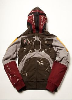 Boba Fett Hoodie/Mark Ecko. Hood zips up over face for extra awesomness...but pricey?