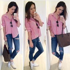 Look dani chevalier Casual Preppy Outfits, Classy Outfits, Stylish Outfits, Work Casual, Casual Chic, Casual Looks, Dani Chevalier, Mode Outfits, Fashion Outfits