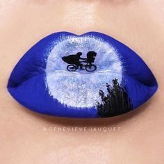 T lip art by E.T lip art by Genevieve Jauquet Lip Gloss Colors, Lip Colors, Lipstick Art, Nice Lips, Best Lipsticks, Make Up Art, Crazy Makeup, Lip Designs, Beautiful Lips
