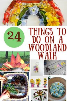 Woodworking For Kids 24 Things for kids to do with Nature on a Woodland Walk {pacific kid} - Looking for ideas for kids to do on a woodland walk? Check out our list of 24 fun things to do on a woodland walk with children. Nature walk ideas for kids! Forest School Activities, Outdoor Activities For Kids, Nature Activities, Toddler Activities, Fun Activities, Crafts For Kids, Outdoor Learning, Outdoor Play, Outdoor Games