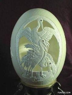 Beautiful egg shell art
