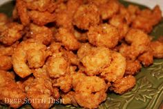 Classic Southern Fried Shrimp from Deep South Dish blog. Fresh, wild caught Gulf Coast shrimp, doused in a milk and egg bath, then dusted with a light coating of seasoned flour and quickly deep fried to crunchy perfection.
