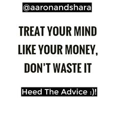 #TreatYourMindLikeYourMoney :)! . .  Follow @aaronandshara . Dont be rude type YES Below If You Agree:)! . . Double tap and tag someone you know will benefit! . .  #thanksgiving…