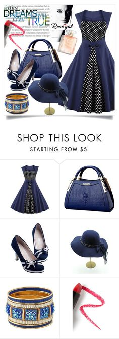 """""""Rosegal"""" by perfex ❤ liked on Polyvore featuring Lapcos, Guerlain, vintage and rosegal"""