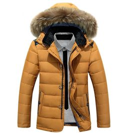 79.00$  Watch more here - http://ai8hv.worlditems.win/all/product.php?id=32793835844 - Winter New Style Warm Men's Jacket Parka Thick Warm Fur Collar Long Cotton Jacket Men Comfortable Cotton Hooded Parka Men