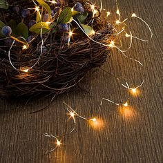 Indoor/Outdoor Micro LED string lights to add a little twinkle to your outdoor decor!