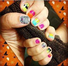 Halloween themed nails!!