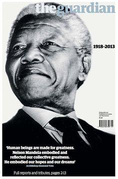 Repaso a las portadas publicadas por medios de todo el mundo en el día después de la muerte de Nelson Mandela. Las hay de colección.