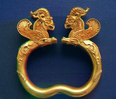 Ancient Babylonian Gold Griffin Bracelet