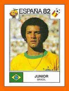 Junior of Brazil. 1982 World Cup Finals card.