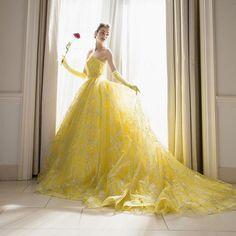 @kiyoko_hata さんとコラボした#marryドレス #キラキラ宇宙ドレス の黄色 ネイビーもすごいかわいいけど、 黄色もすごく好き 美女と野獣のベルみたい…」 Quince Dresses, Prom Dresses Blue, 15 Dresses, Engagement Dresses, Sweet 16 Dresses, Quinceanera Dresses, Yellow Dress, Beautiful Gowns, Dream Dress